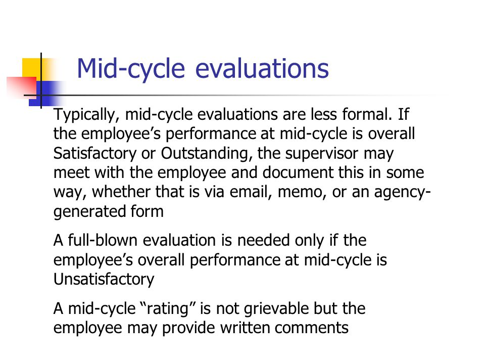 Mid-cycle evaluations