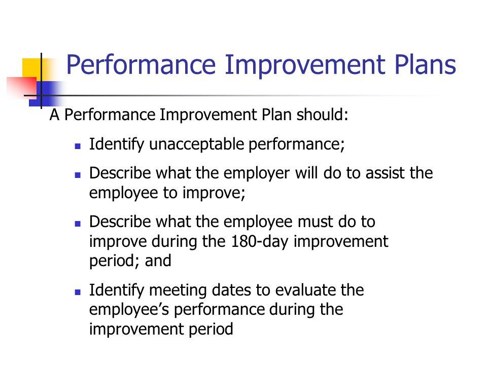 Performance Improvement Plans