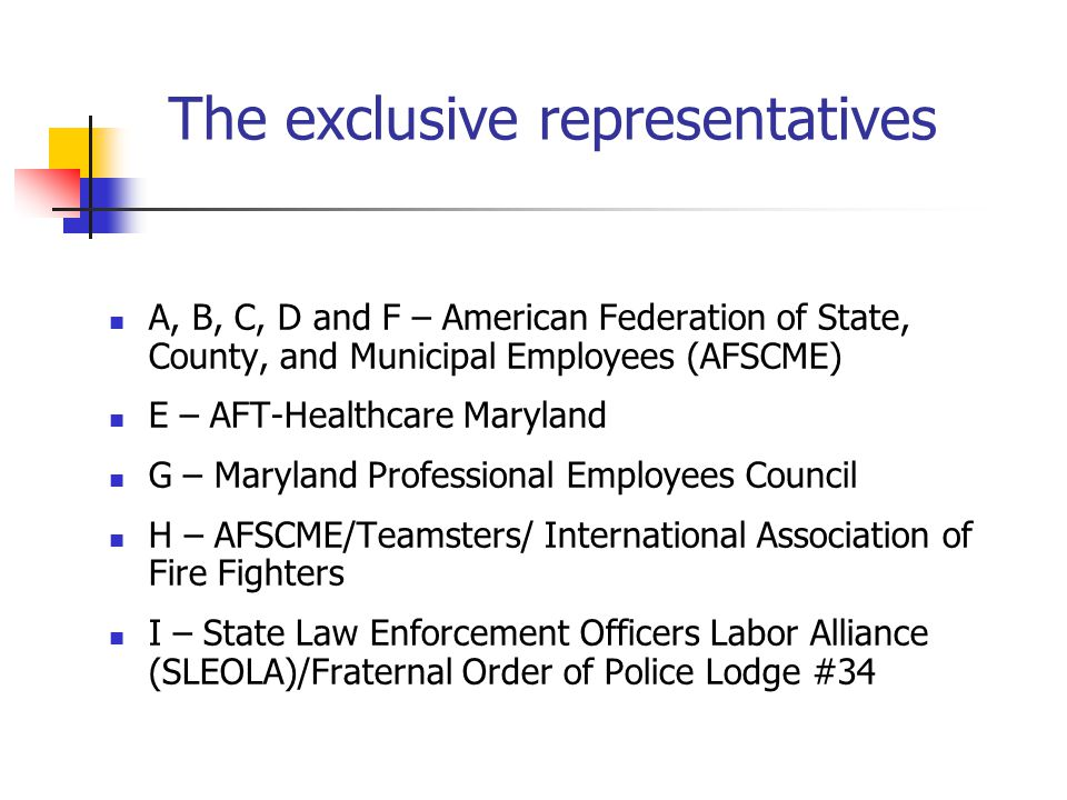 The exclusive representatives