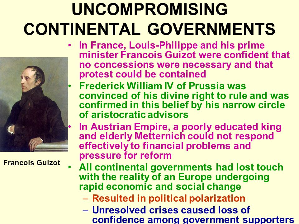 UNCOMPROMISING CONTINENTAL GOVERNMENTS
