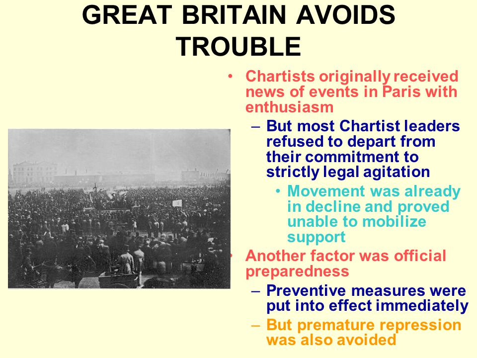 GREAT BRITAIN AVOIDS TROUBLE