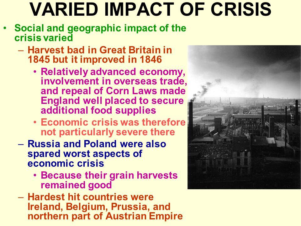 VARIED IMPACT OF CRISIS