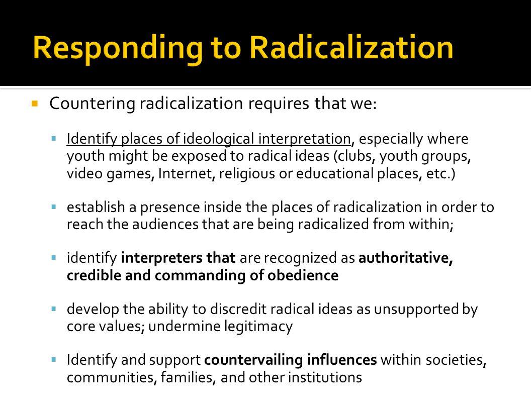 Responding to Radicalization