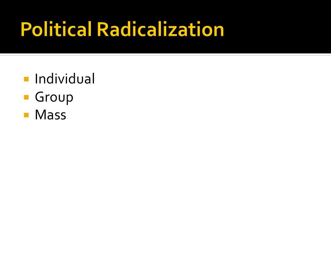 Political Radicalization