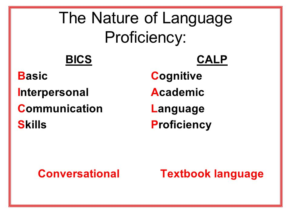 The Nature of Language Proficiency: