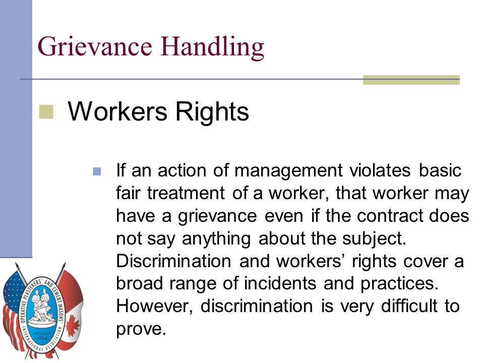 Grievance Handling Workers Rights