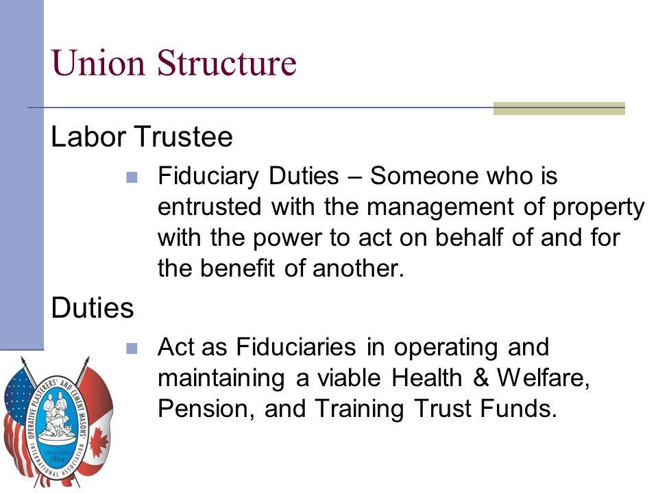 Union Structure Labor Trustee Duties