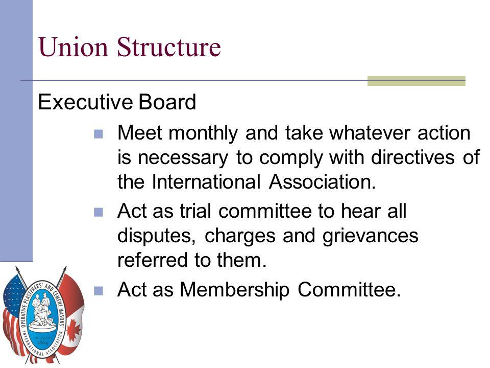 Union Structure Executive Board