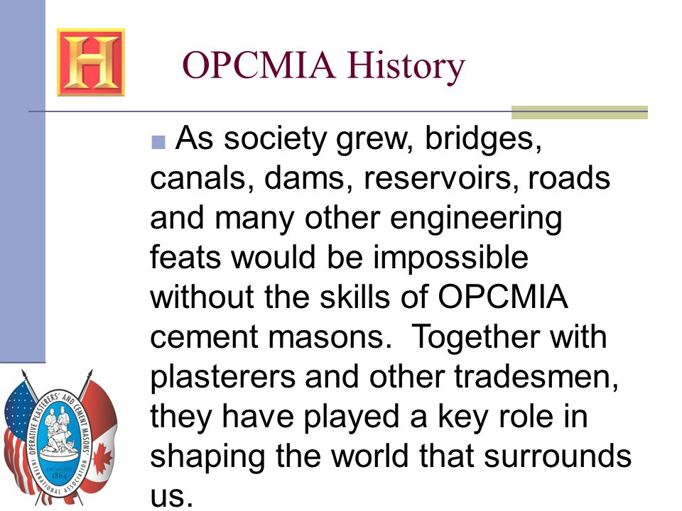 OPCMIA History