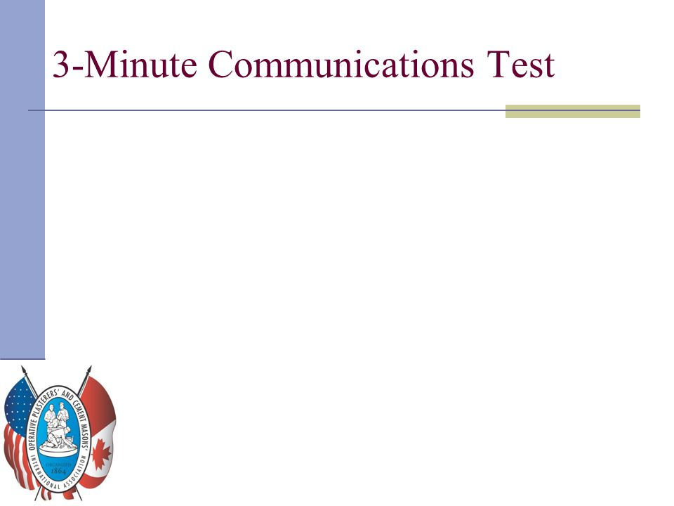 3-Minute Communications Test
