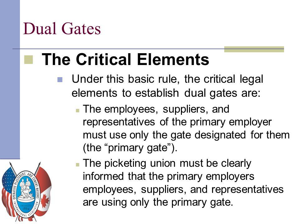 Dual Gates The Critical Elements