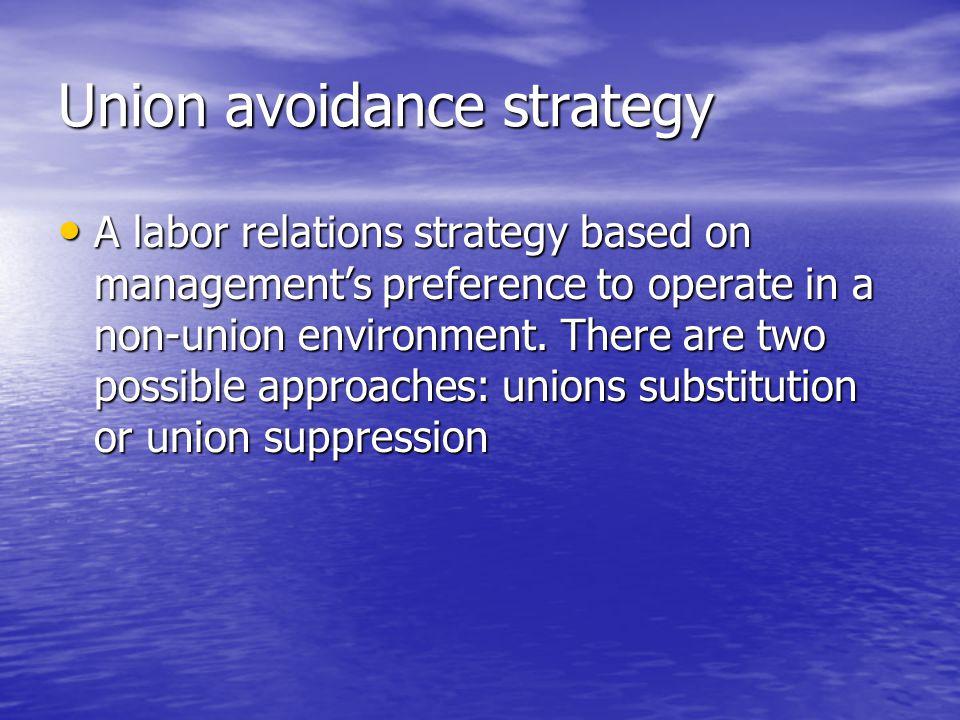 Union avoidance strategy