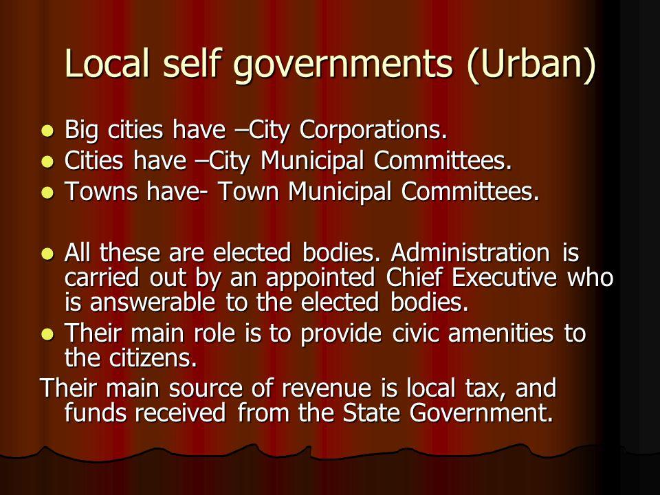 Local self governments (Urban)