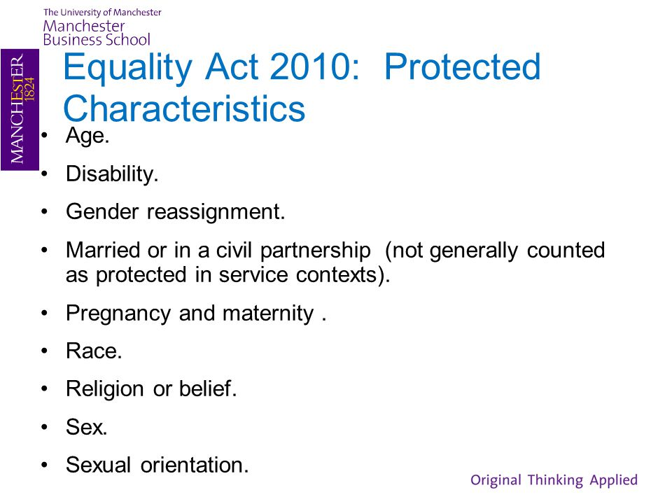 Equality Act 2010: Protected Characteristics