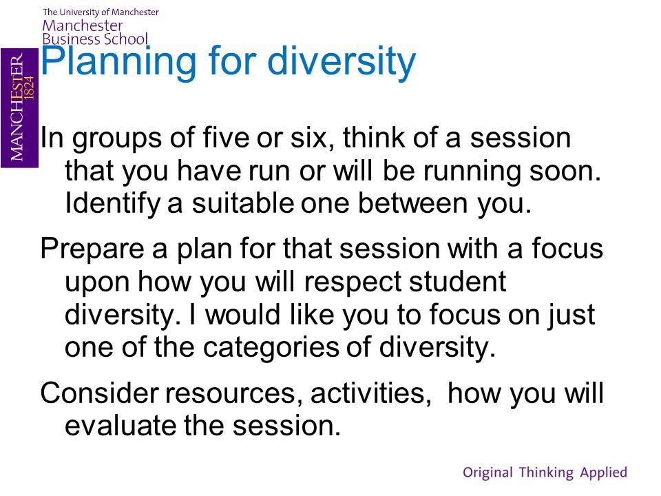 Planning for diversity