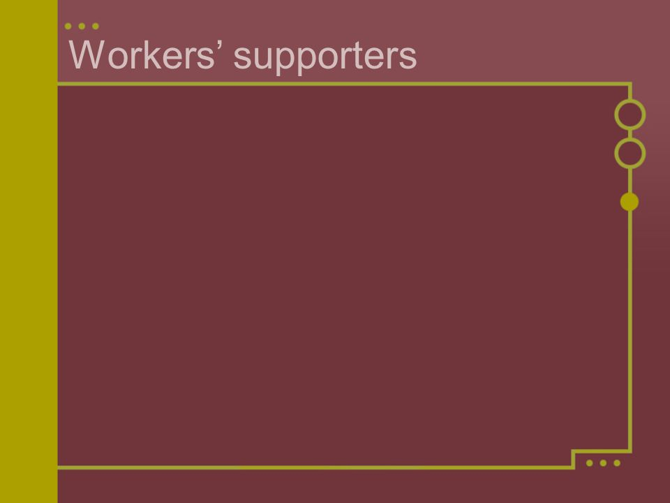 Workers' supporters