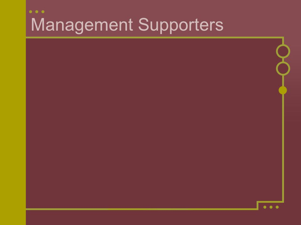 Management Supporters