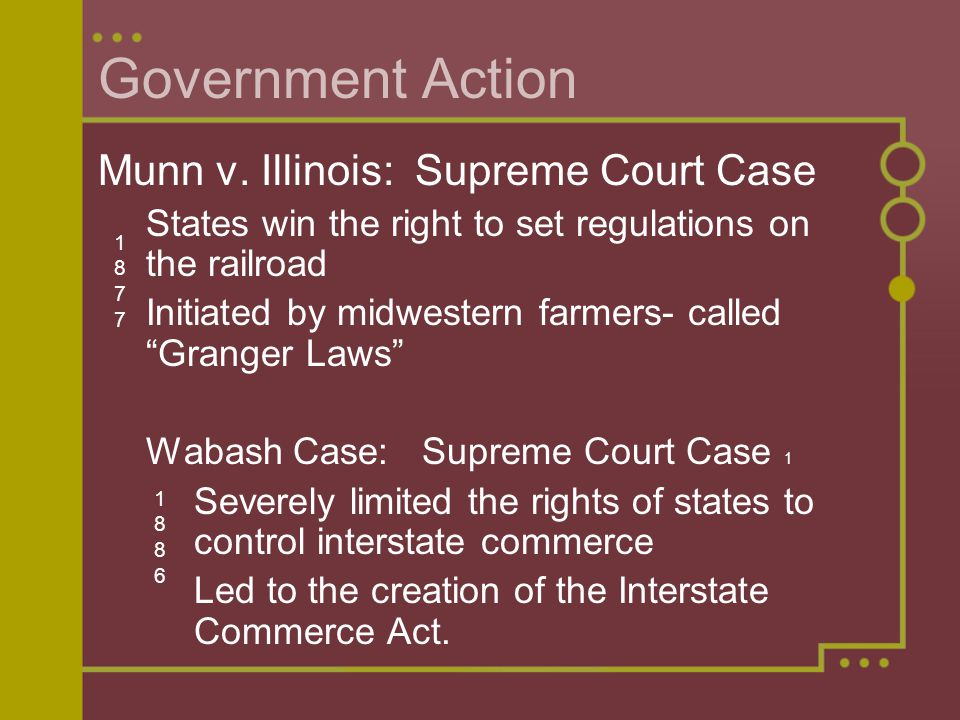 Government Action Munn v. Illinois: Supreme Court Case