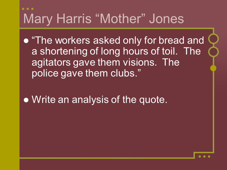 Mary Harris Mother Jones
