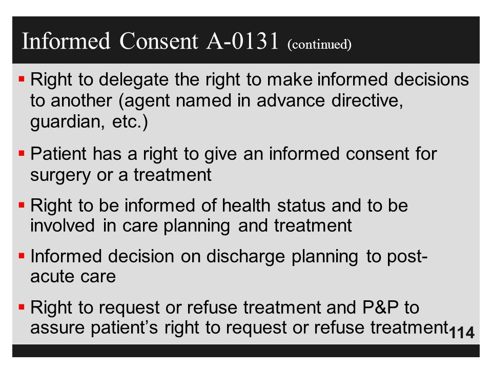 Informed Consent A-0131 (continued)