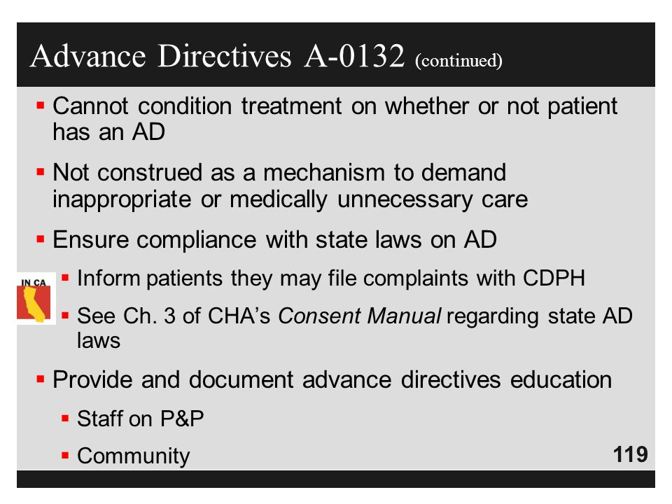 Advance Directives A-0132 (continued)