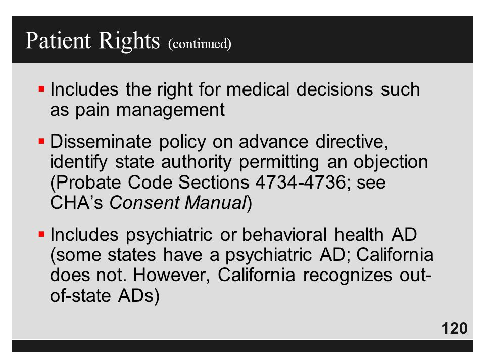 Patient Rights (continued)