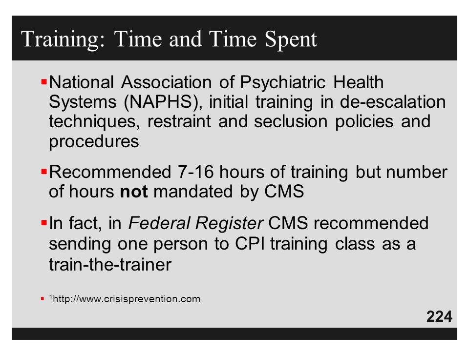 Training: Time and Time Spent