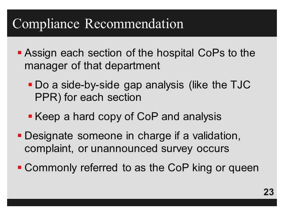 Compliance Recommendation
