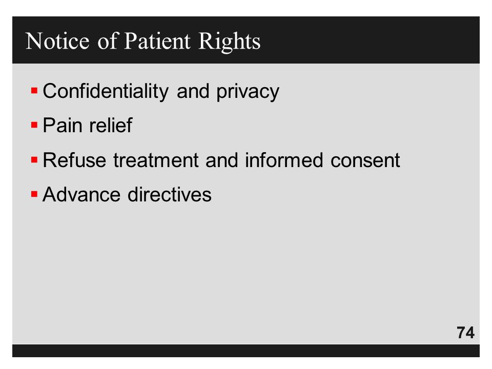 Notice of Patient Rights