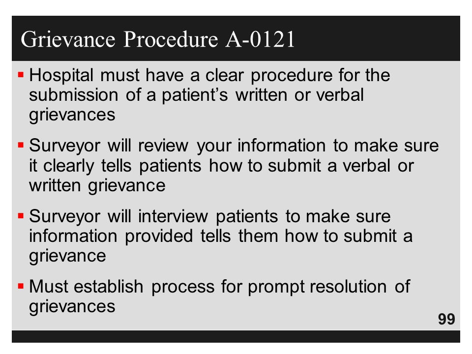 Grievance Procedure A-0121
