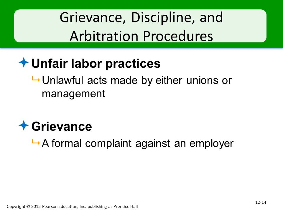 Grievance, Discipline, and Arbitration Procedures
