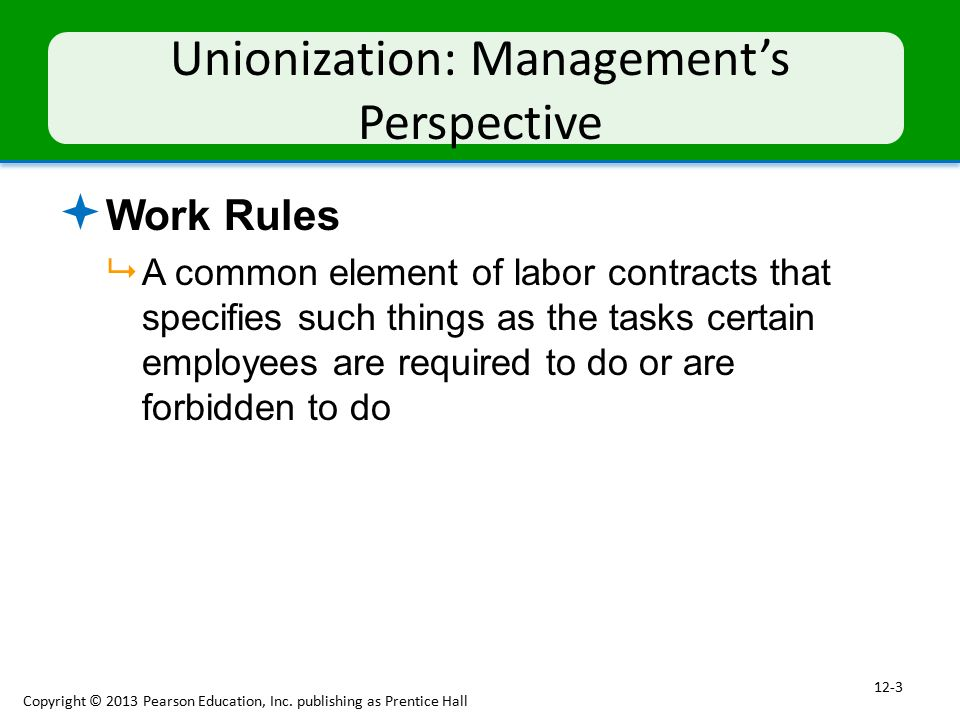 Unionization: Management's Perspective