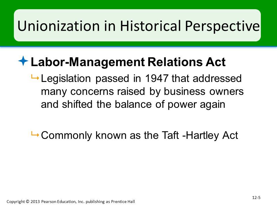 Unionization in Historical Perspective