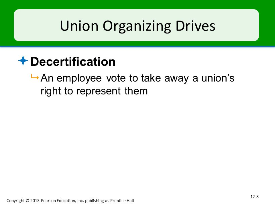 Union Organizing Drives