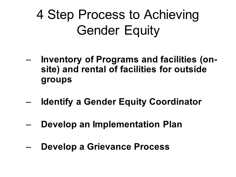 4 Step Process to Achieving Gender Equity