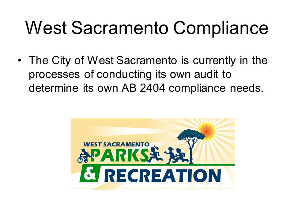 West Sacramento Compliance