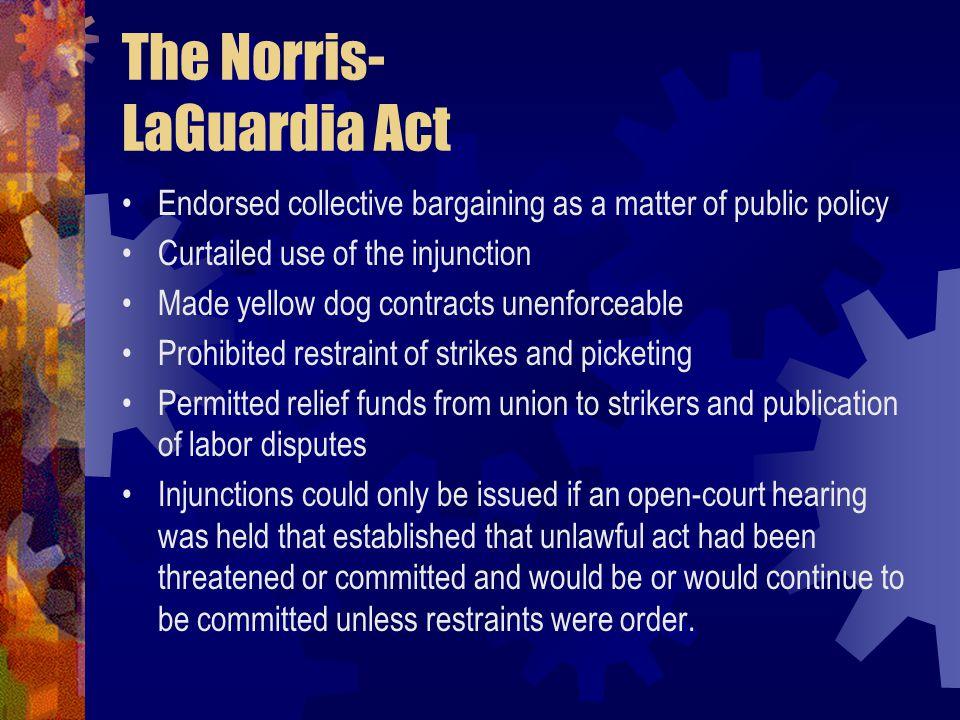 The Norris- LaGuardia Act