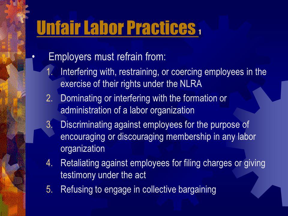 Unfair Labor Practices 1