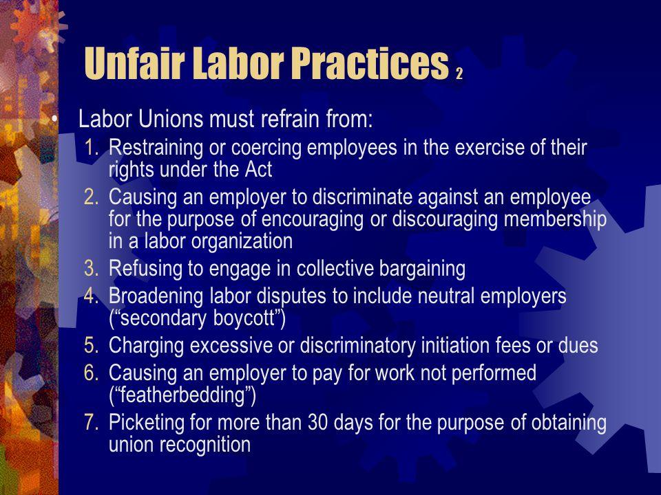Unfair Labor Practices 2