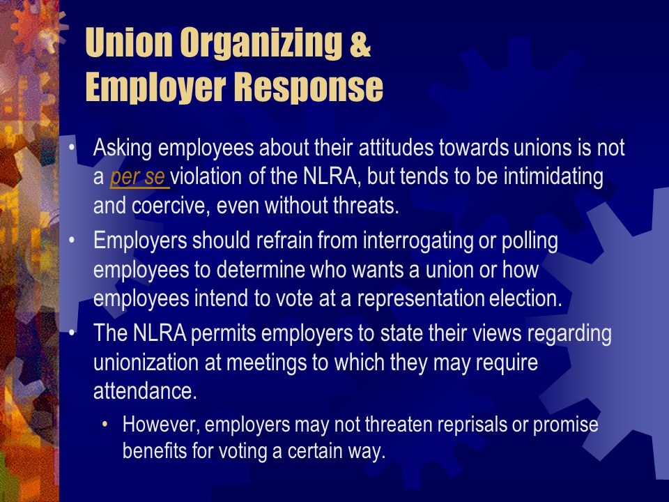 Union Organizing & Employer Response