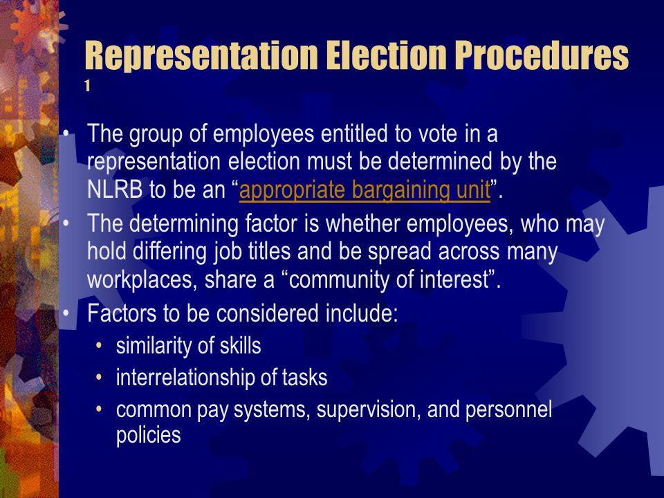 Representation Election Procedures 1