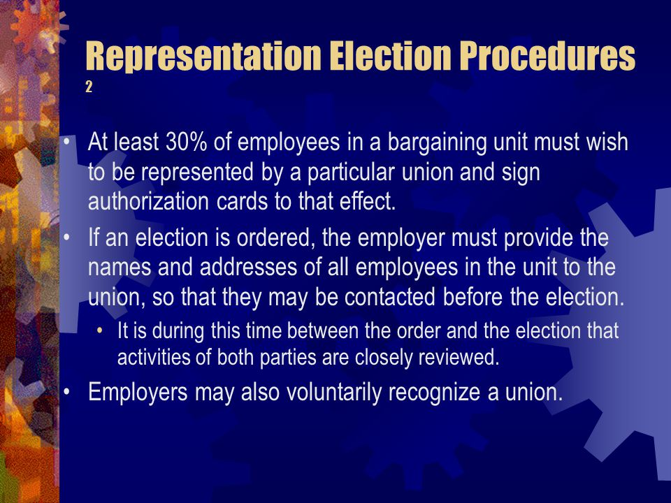 Representation Election Procedures 2