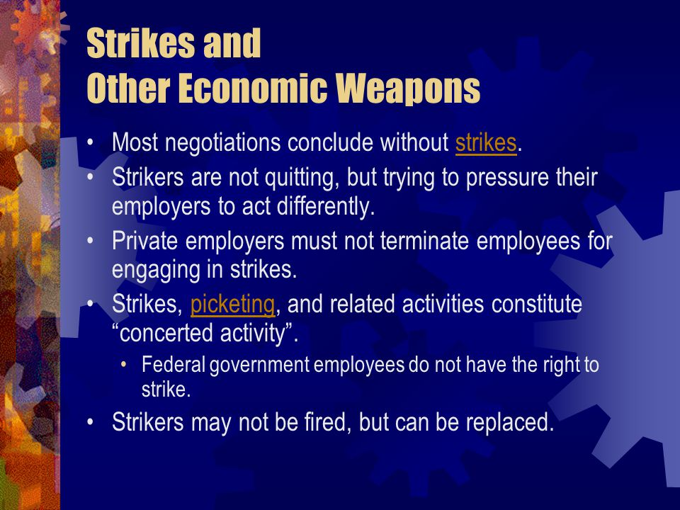 Strikes and Other Economic Weapons