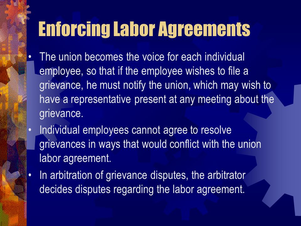 Enforcing Labor Agreements