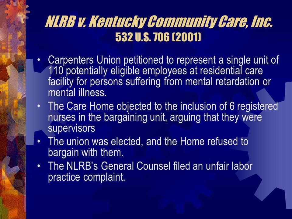 NLRB v. Kentucky Community Care, Inc. 532 U.S. 706 (2001)