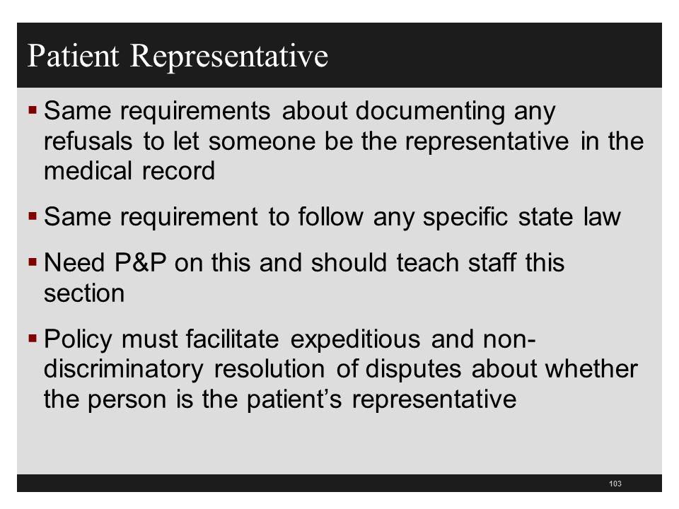 Patient Representative