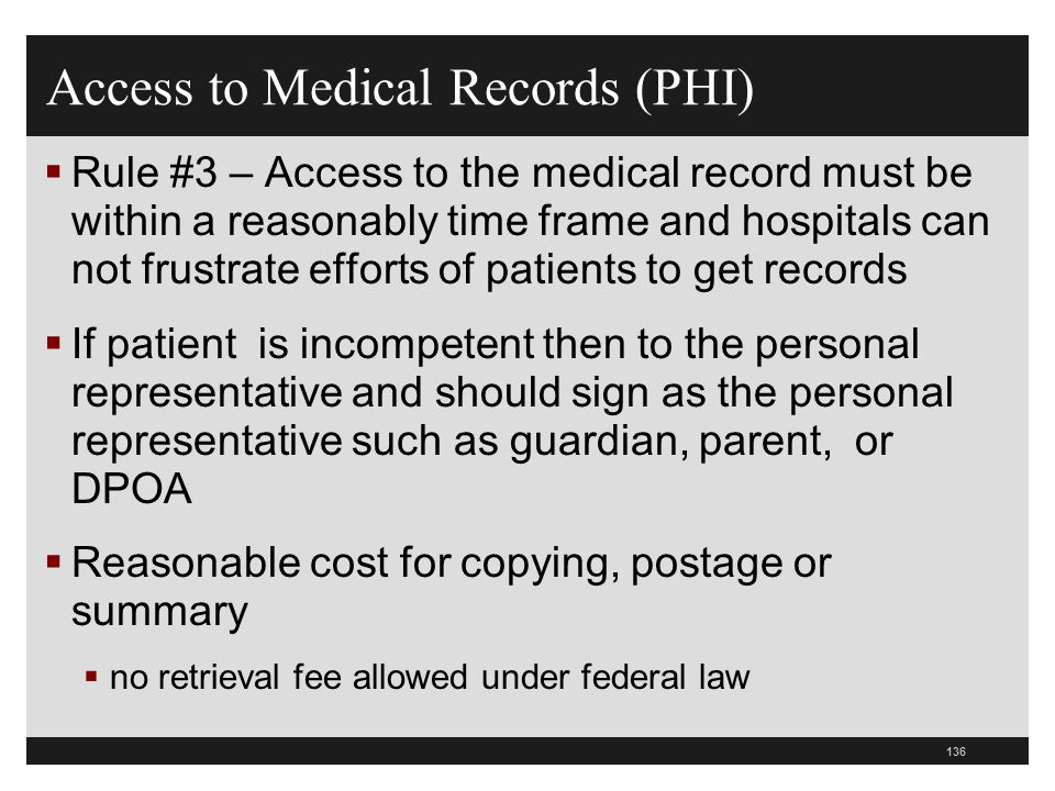 Access to Medical Records (PHI)