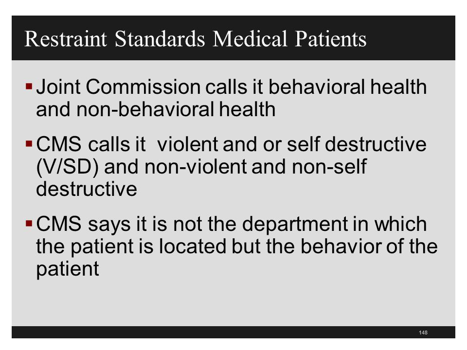 Restraint Standards Medical Patients