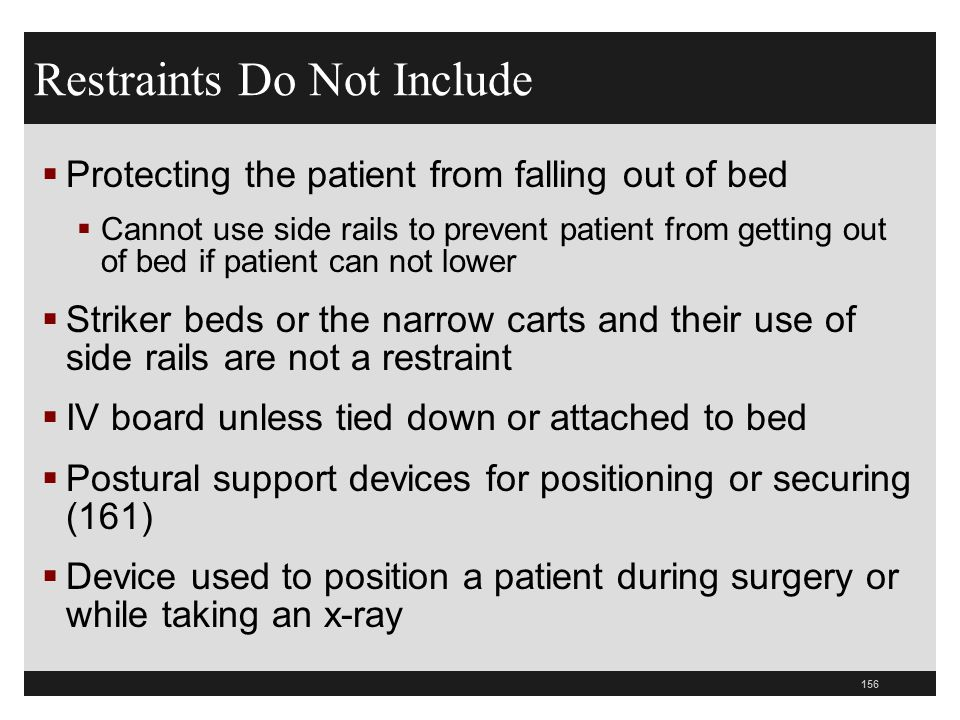 Restraints Do Not Include