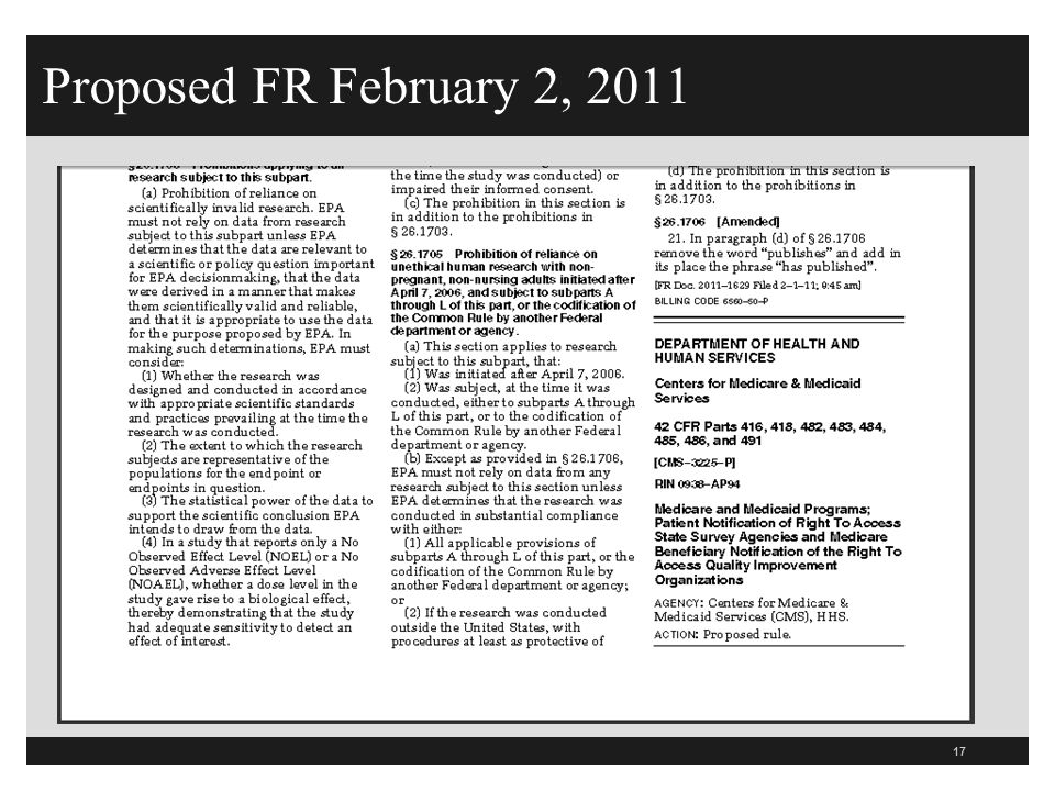 Proposed FR February 2, 2011